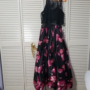 Floral attached two piece dress